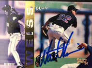 Walt Weiss Autographed 1994 Score Select #127