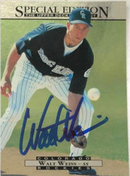 Walt Weiss Autographed 1995 Upper Deck Special Edition #102