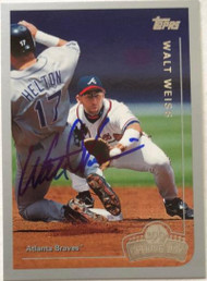 Walt Weiss Autographed 1999 Topps Opening Day #81