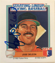 Jose DeLeon Autographed 1988 Starting Lineup #5