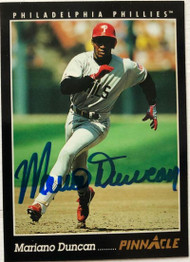 Mariano Duncan Autographed 1993 Pinnacle #218
