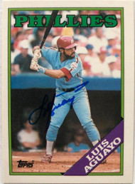 Luis Aguayo Autographed 1988 Topps Tiffany #356