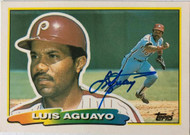Luis Aguayo Autographed 1988 Topps Big #226