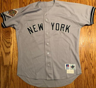Mariano Duncan GAME USED 1996 World Series New York Yankees Road Jersey