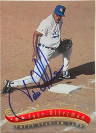 Jose Offerman Autographed 1997 Stadium Club #309