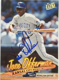 Jose Offerman Autographed 1997 Fleer Ultra Gold Medallion #69