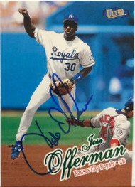 Jose Offerman Autographed 1998 Fleer Ultra #363