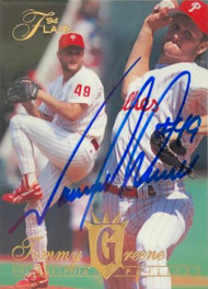 Tommy Greene Autographed 1994 Flair #412