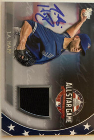 JA Happ Autographed 2018 Topps Update Series All-Star Stitches Jersey #AST-JP