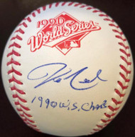 Jeff Reed 1990 W.S. Champs Autographed 1990 World Series Baseball