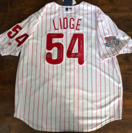 Brad Lidge Autographed Philadelphia Phillies Majestic Jersey 5 Inscriptions WOW