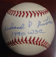 Dick Ruthven Autographed RO-NL Leonard Coleman Baseball 1980 W.S.C.
