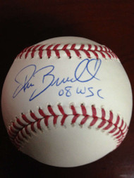 SOLD 793 Pat Burrell Autographed ROMLB Baseball 2008 W.S.C.