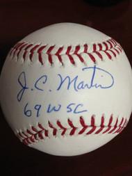 J.C. Martin Autographed ROMLB Baseball 69 W.S.C.