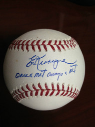 SOLD 845 Ed Kranepool Autographed ROMLB Baseball Once a Met Always a Met