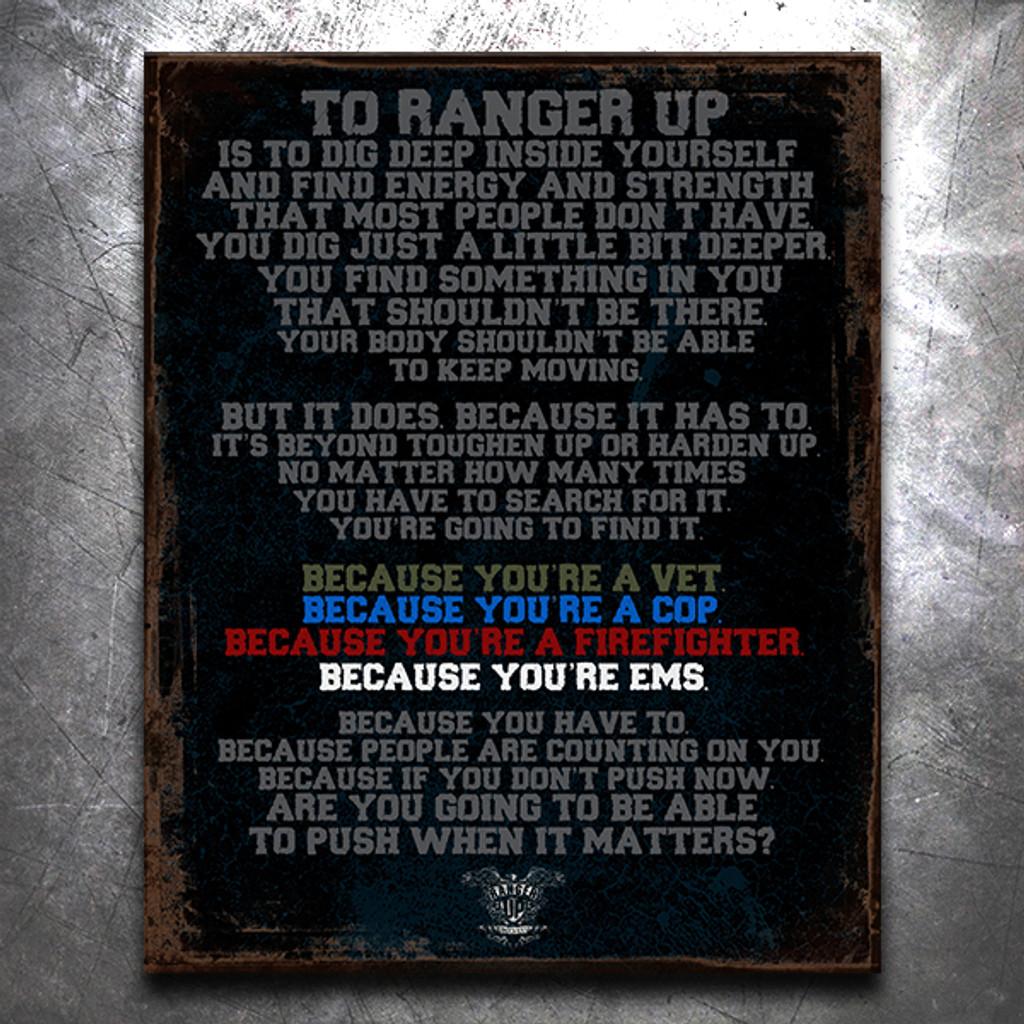 Why We Ranger Up Vintage Tin Sign