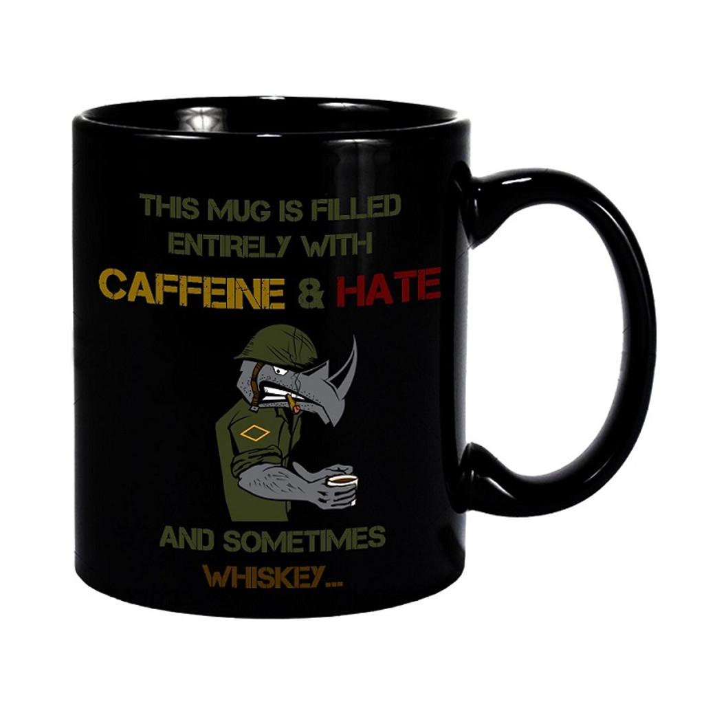The Damn Few Caffeine and Hate Coffee Mug