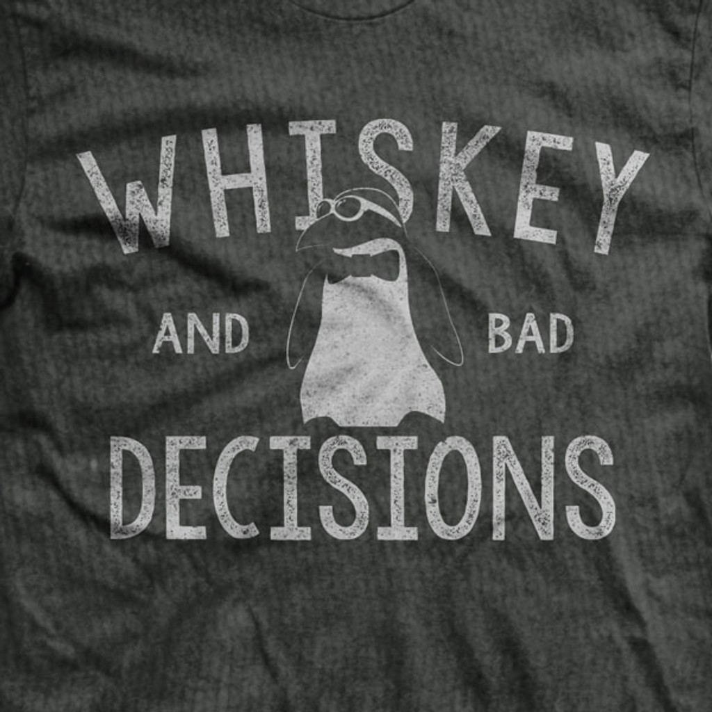 Whiskey and Bad Decisions Ultra-Thin Vintage T-Shirt