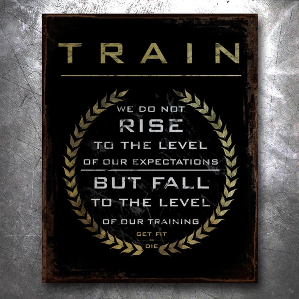 Train Vintage Tin Sign