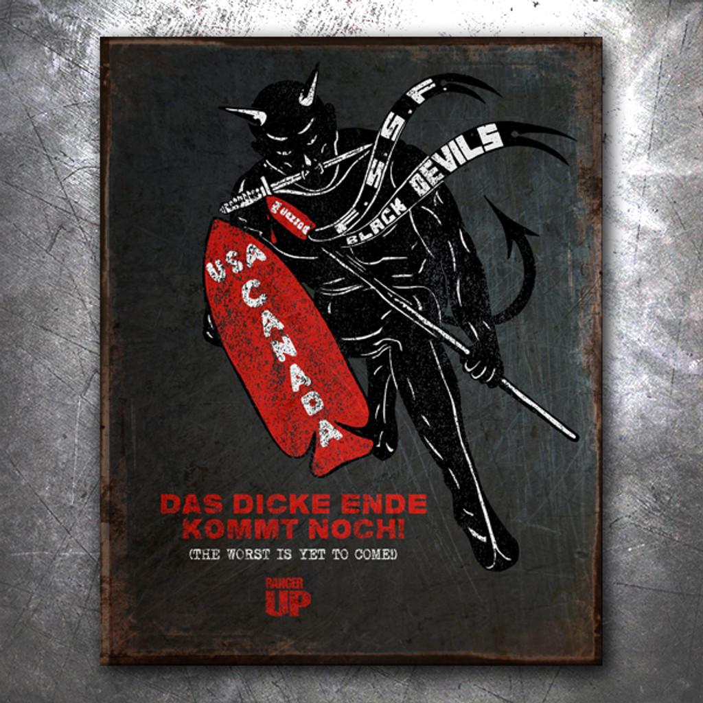 Devil's Brigade Vintage Tin Sign
