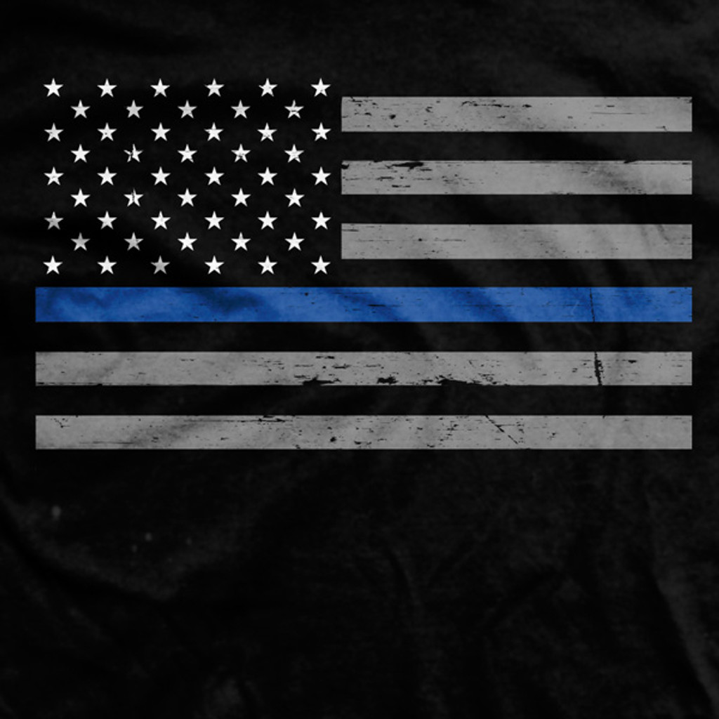 Thin Blue Line Flag Normal-Fit T-Shirt