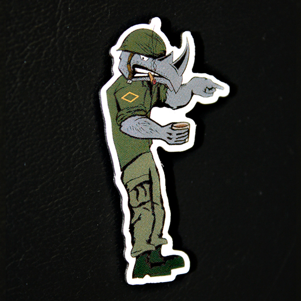 The Damn Few Rhino Pin