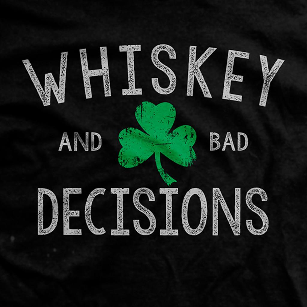 PREORDER Whiskey & Bad Decisions Shamrock Vintage T-shirt