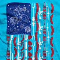 4th of July Fun Flag Normal-Fit T-Shirt