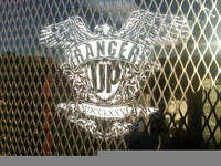 LARGE Ranger Up War Eagle Window Decal