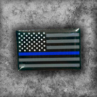 Thin Blue Line Flag Pin