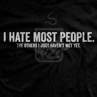 I Hate Most People Vintage T-shirt