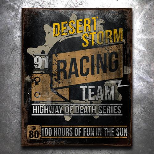 Desert Storm Racing Team Vintage Tin Sign