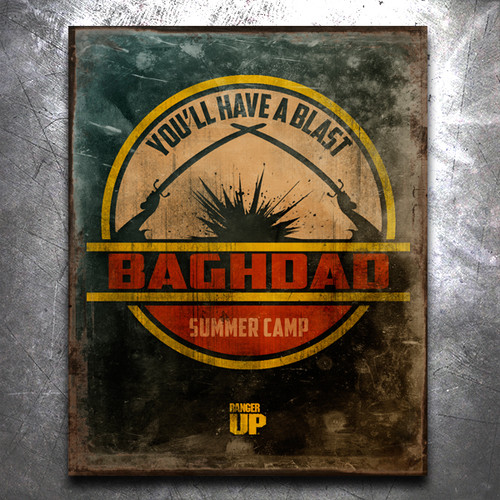 Baghdad Summer Camp Vintage Tin Sign