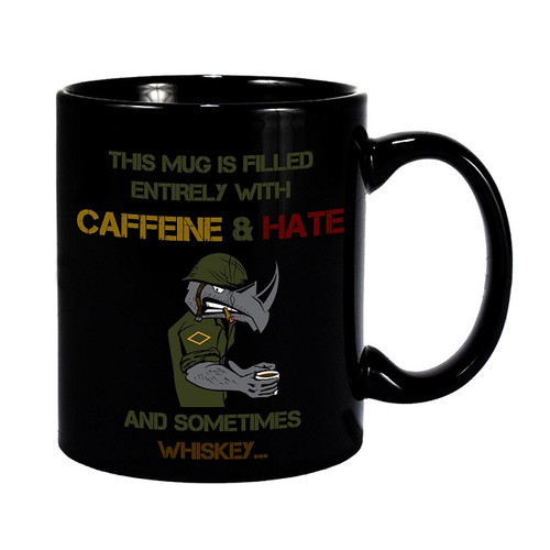 The Damn Few Caffeine and Hate Coffee Mug
