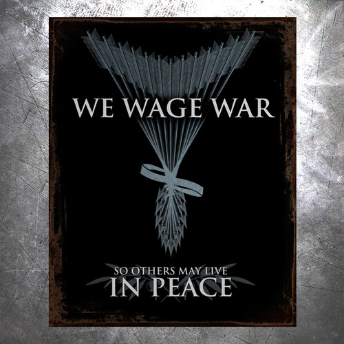 Wage War Vintage Tin Sign