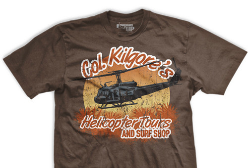 COL Kilgore's Helicopter Tours Ultra-Thin Vintage T-Shirt