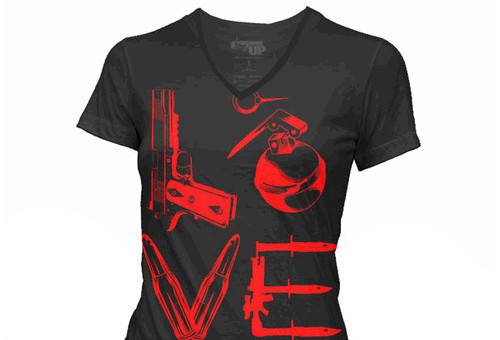 WOMENS Black Love T-Shirt