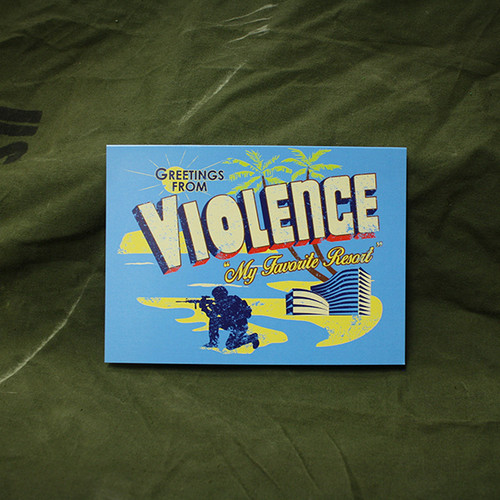 Violence...My Favorite Resort Greeting Card
