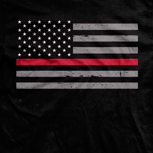 Thin Red Line Flag Normal-Fit T-Shirt