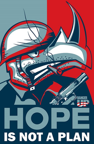 Hope is Not a Plan Rhino Campaign Poster