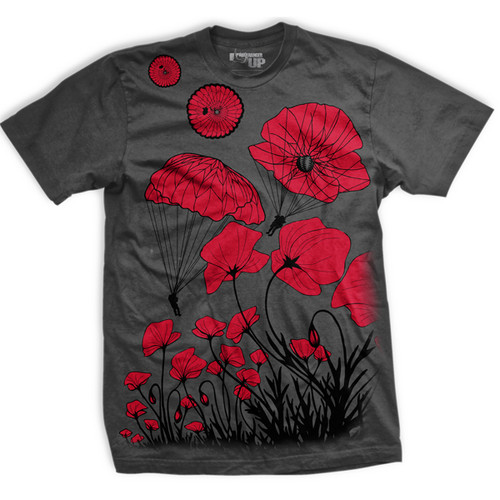 PREORDER Paratrooper Poppy Field Memorial Ultra-Thin Vintage T-Shirt