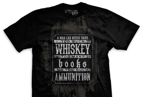 Books, Whiskey and Ammunition Normal-Fit T-Shirt