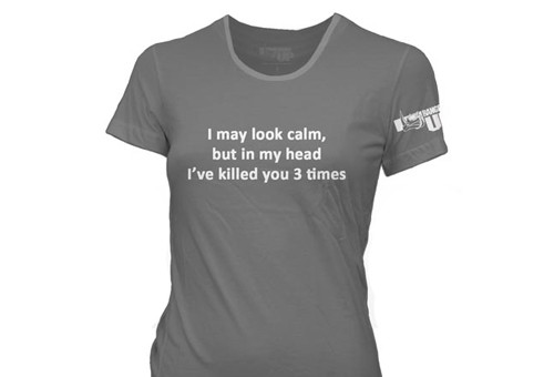 WOMENS Gray Killed You Three Times T-Shirt