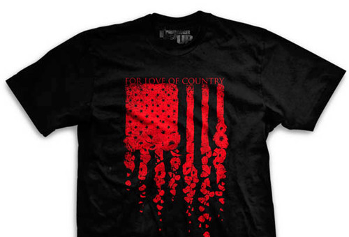 Poppy Flag Ultra-Thin Vintage T-Shirt