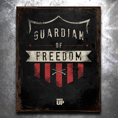 Guardian of Freedom Vintage Tin Sign