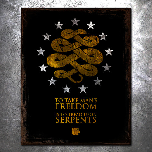 Tread Upon Serpents Vintage Tin Sign