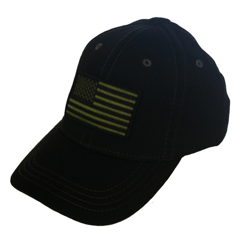 Black Micromesh American Flag Hat