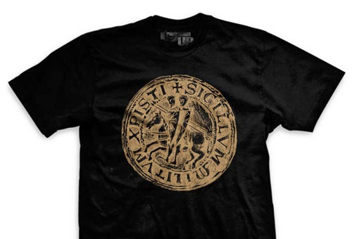 BLACK Templar Code Ultra-Thin Vintage T-Shirt