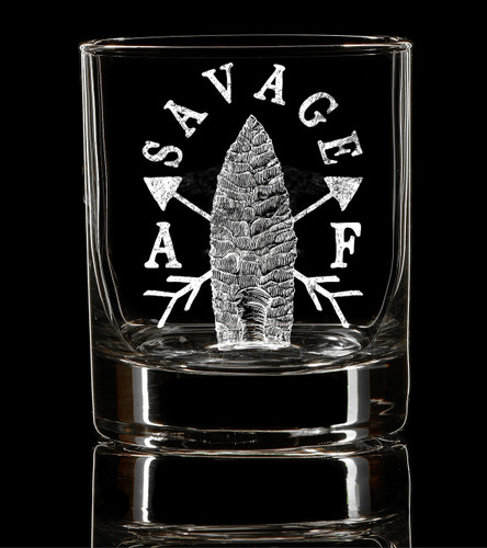 Savage AF Whiskey Glass