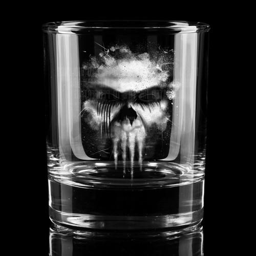 Violent Mistake Whiskey Glass
